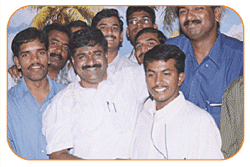 Mr. N Bitra With Sri. PNV Prasad, Ex.SAAP Chairman, The occasion of SAAP Chirman Joining Office.